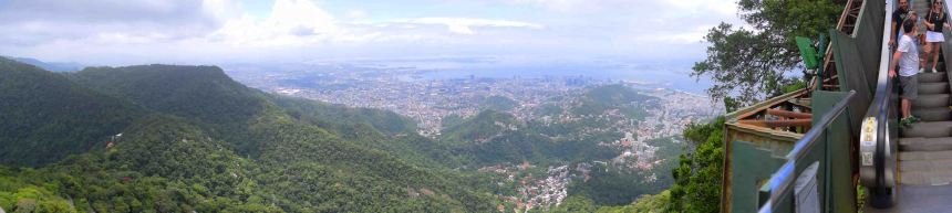 Rio de Janeiro from Christ the Redeemer.