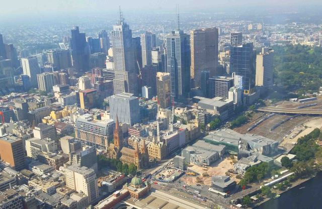 Melbourne from the top of the Eureka Tower