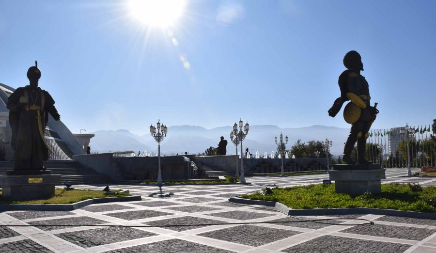Statues in Ashgabat