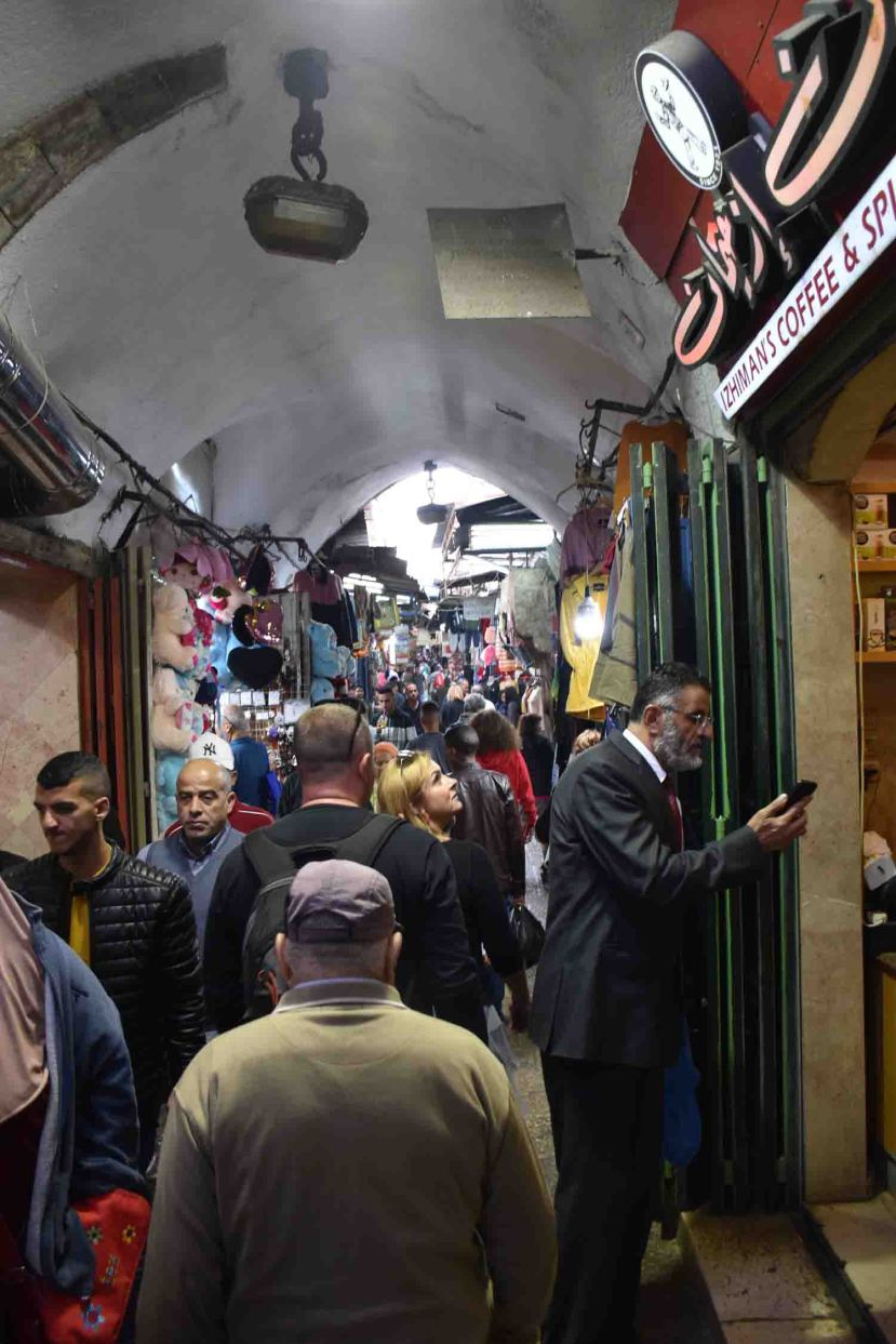 It's busy in the Old City