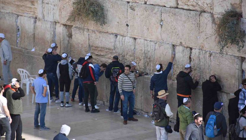Many at the Western (Wailing) Wall