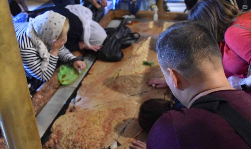 Worshipping the Unicorn Stone in the Church of the Holy Sepulchre