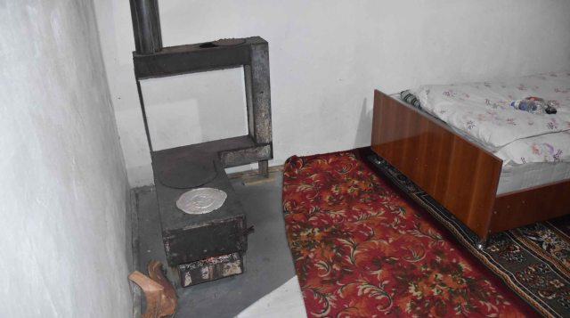 Stove in the room